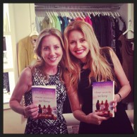 Author Emily Liebert at her NYC launch party for Those Secrets We Keep with Kasia Bosne, owner of Boutique on 57