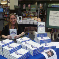 Author Emily Liebert signing copies of Facebook Fairytales at Barnes & Noble in Birmingham, Alabama
