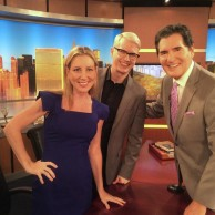 Author Emily Liebert on FOX 5 with Ernie Anastos
