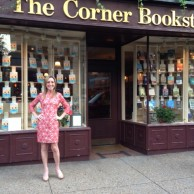 Author Emily Liebert at her book signing & reading at The Corner Bookstore in New York City