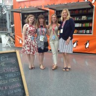 With fellow authors Lauren Willig,  Jill Shalvis & Marie Force at BookCon
