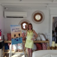 At the Preview Party for You Knew Me When at Serena & Lily Beach Market in The Hamptons