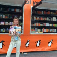 Signing books & chatting with readers at the Penguin truck at BookCon