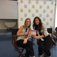Author Emily Liebert with Stephanie Mansour, CEO of Step It Up with Steph, at Printers Row Lit Fest 2015