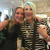 Author Emily Liebert with comedian Lisa Lampanelli