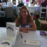 Emily Liebert signing books at East Hampton Library Authors Night