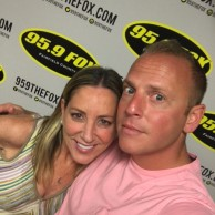 """Emily Liebert with """"First Thing Fairfield County"""" host Ken Tuccio launching her monthly book segment on 95.9 FOX"""