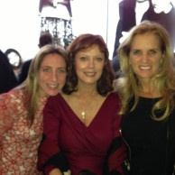 Emily Liebert with Susan Sarandon & Kerry Kennedy at the 2012 Somaly Mam Foundation gala