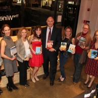 At Meet the Authors event at The Wine Cellar in Rye Brook, NY
