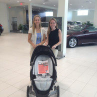 With Nomie Baby Founder & CEO Katie Danziger at Pepe Infiniti's Travel Safety for Kids event in White Plains