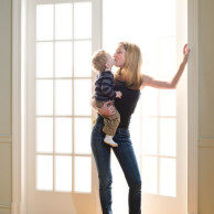 Author Emily Liebert with her son, Hugo