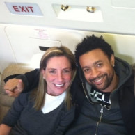 With pop singer & rapper Shaggy