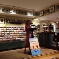 Author Emily Liebert reading from her debut novel, You Knew Me When, at RJ Julia Booksellers in Madison, CT