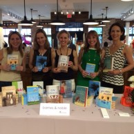 With fellow authors Annabel Monaghan, Susie Schnall, Eileen Palma & Beatriz Williams at Athleta Scarsdale's Moms Night Out book signing