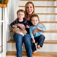 Author Emily Liebert with her sons, Hugo & Jaxsyn